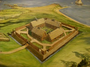 Epply Saybrook Fort Painting - Old Saybrook Town Hall - Fort I