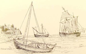 """A Pink, a pinnace, and a shallop"" were the three watercraft used by English-Allied forces during the Mistick Fort Campaign."