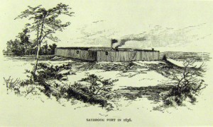 Artists depiction of Saybrook Fort - New York Public Library