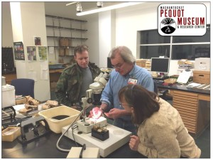 MPMRC Researchers studying new recovered battlefield objects.