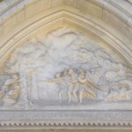 """Attack on Indian Fort"" frieze at the CT State Capitol building at Hartford."