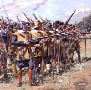 Depiction of a company of Massachusetts Bay troops by Don Troiani.